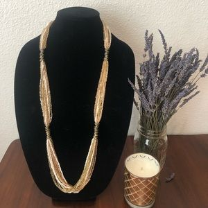 Gold Seed bead necklace.
